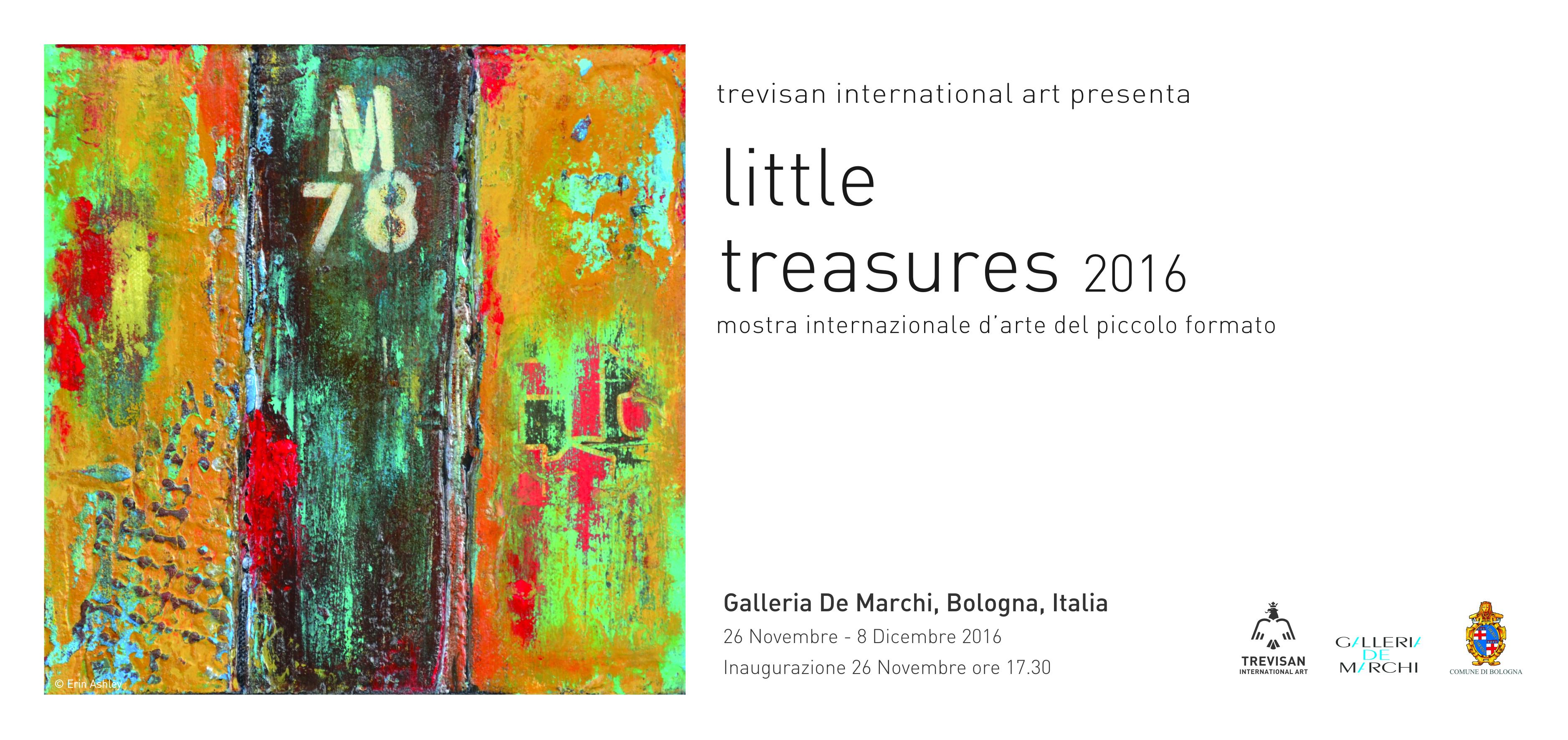 Exhibiting with Trevisan International Art, Galleria de Marchi, Bologna. 26th November - 8th December 2016, Private View Saturday 26th November 2016.